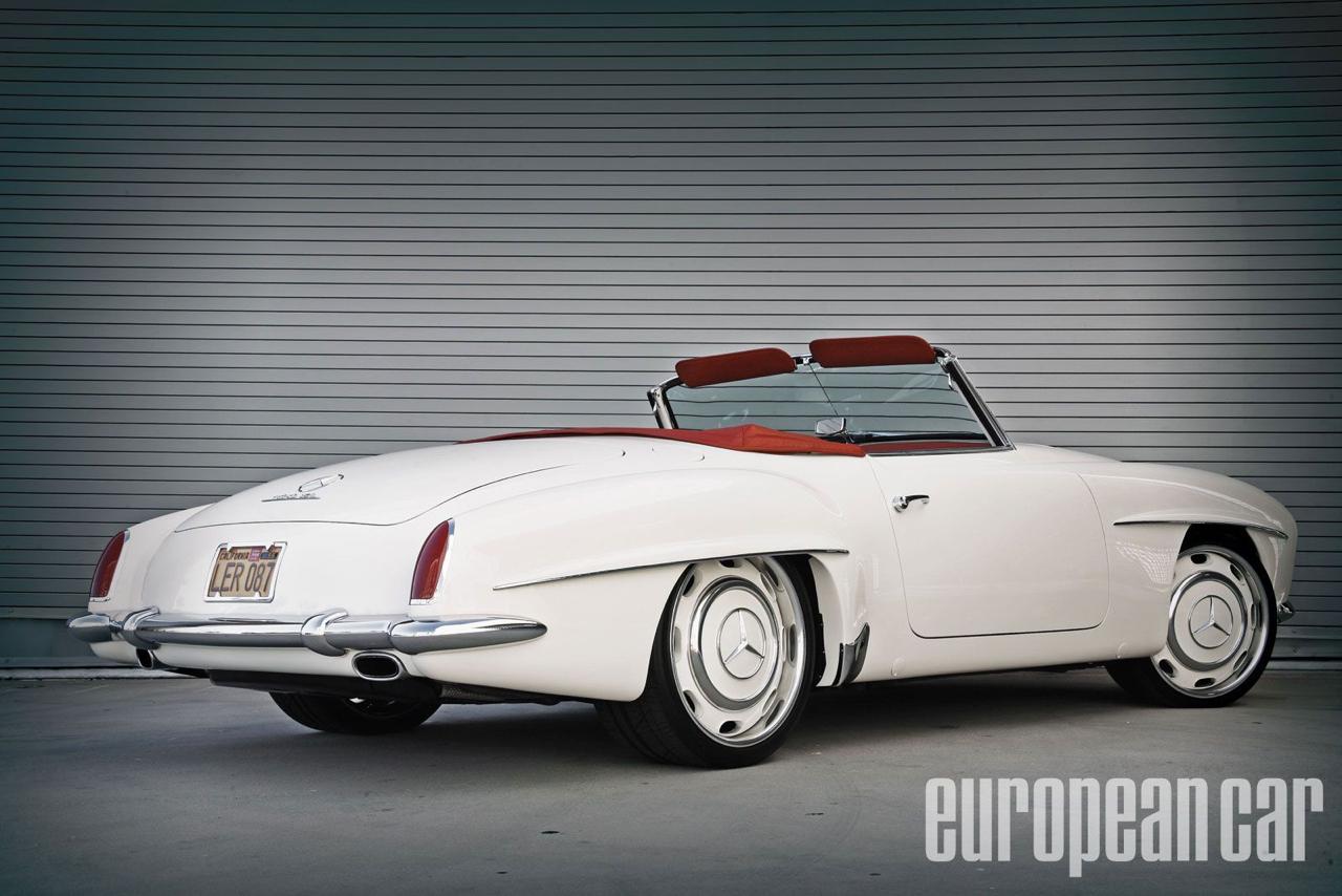 """'61 Mercedes 190 SL... La """"Mercedes Bent"""" un peu spéciale ! 12"""