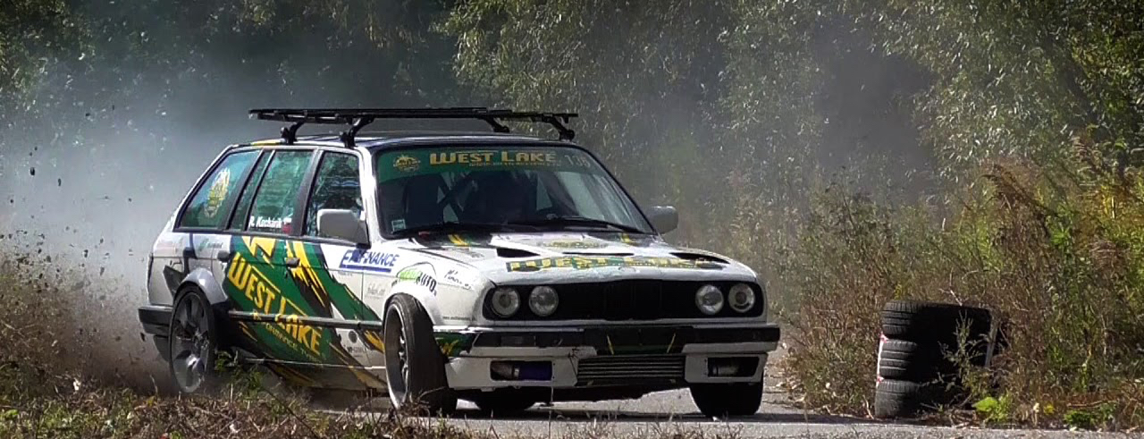 Hillclimb Monster : BMW E30 Touring 3.5l turbo... Par la portière ! 5