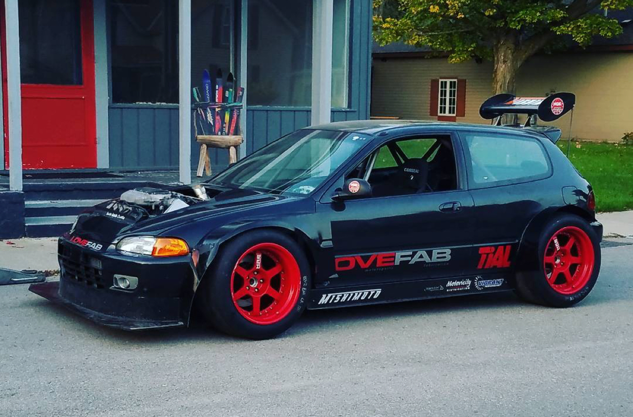 Hillclimb Monster : Honda Civic V6 Turbo... Brutale ! 14