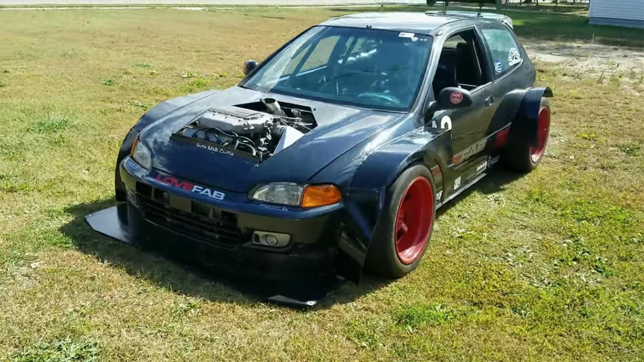 Hillclimb Monster : Honda Civic V6 Turbo... Brutale ! 12