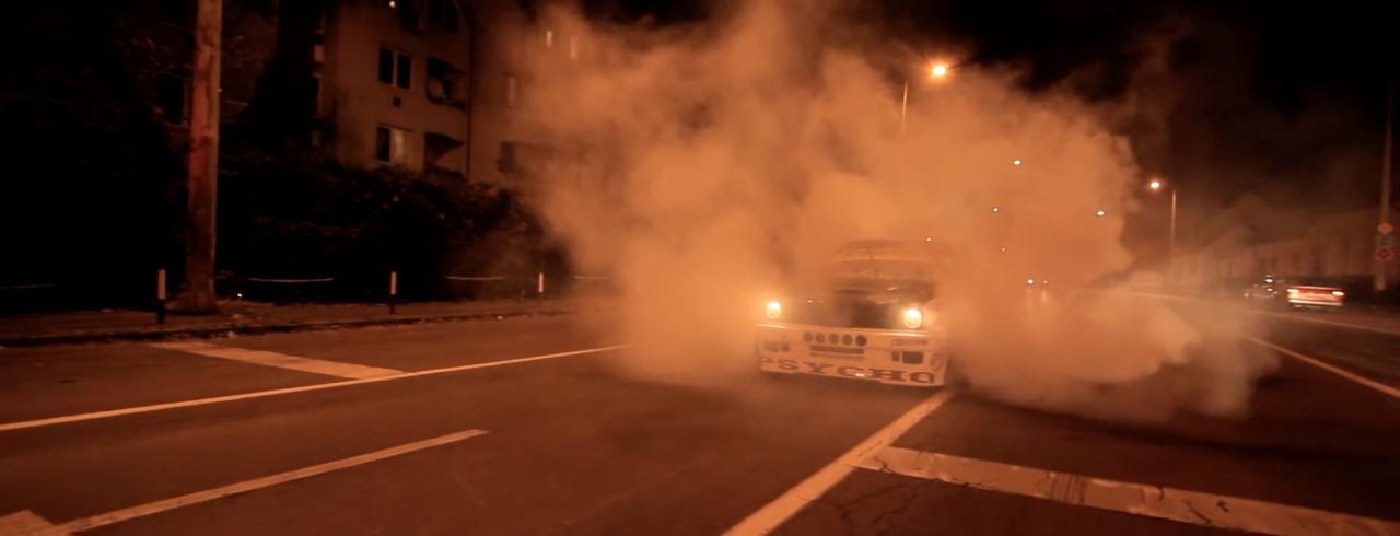 Night Drift Illegal Style - Csaba Vigh et sa E30 lâchés dans les rues ! 2