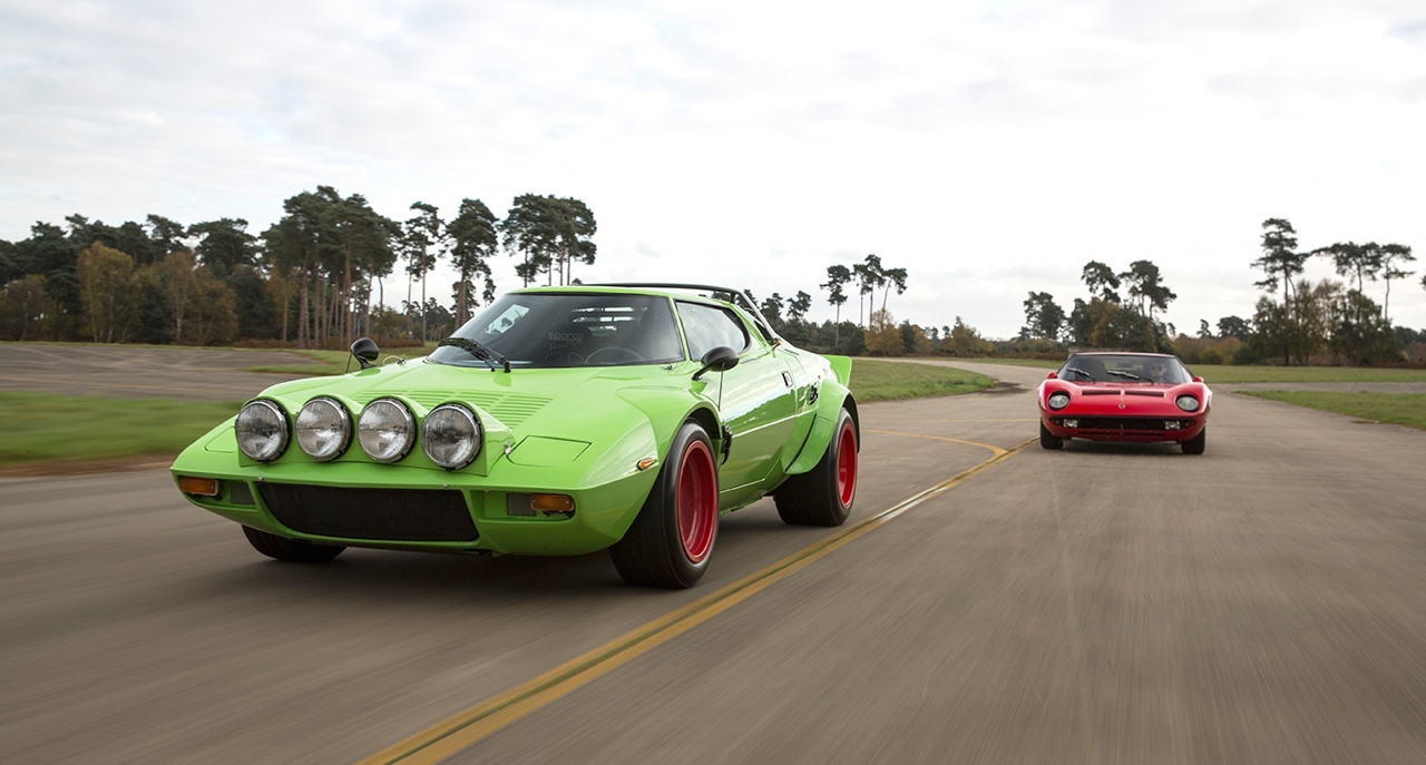 Lancia Stratos & Lamborghini Miura - Jogging vs Tenue de soirée ! 9