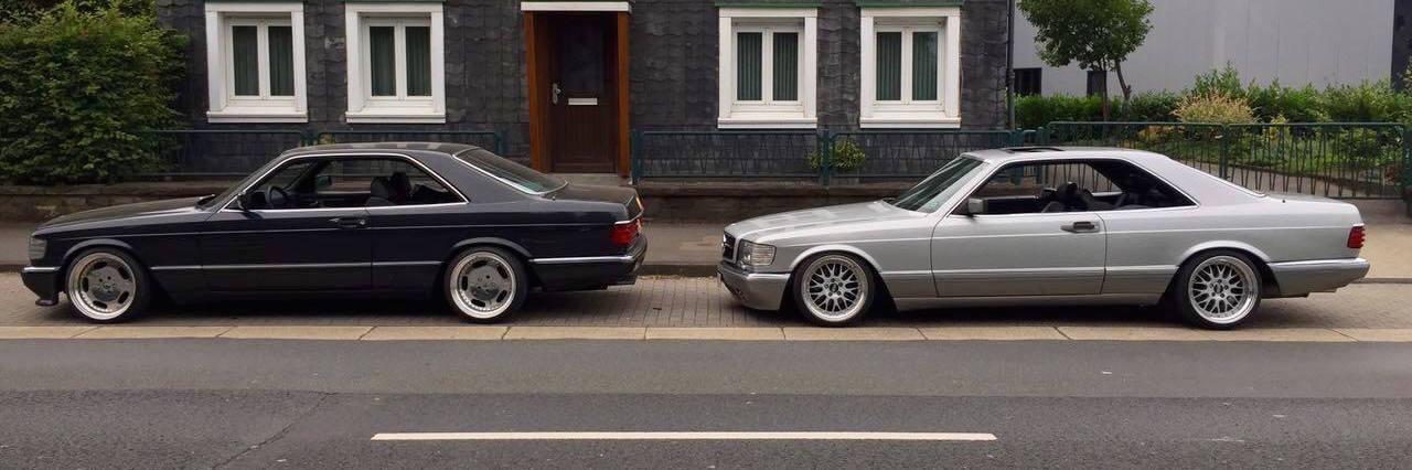 Des Mercos W126 et C126 totalement déchainées et énervées ! 24