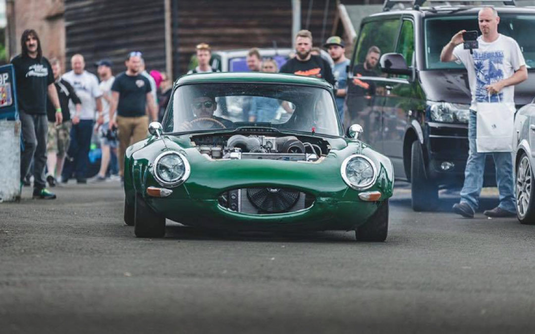 Jaguar Type E en rotatif – On a retrouvé le monstre de Frankenstein !