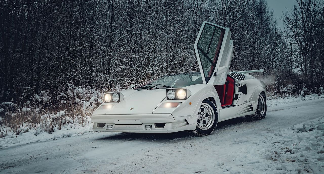 Un Lamborghini Countach 25th Anniversary - Blanche neige ! 40