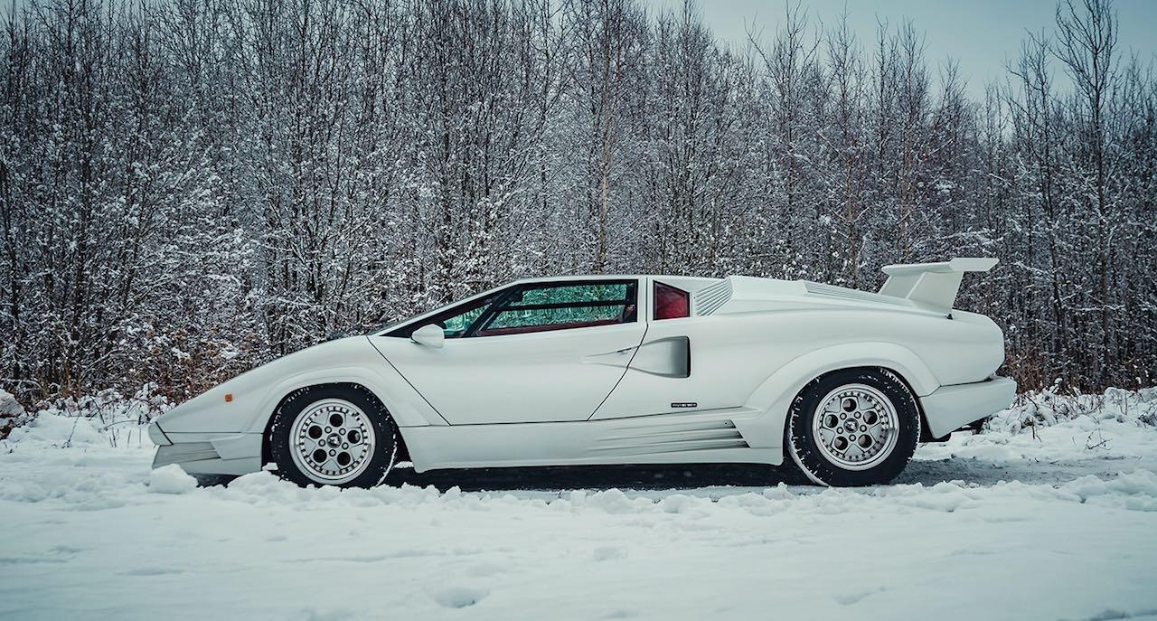 Un Lamborghini Countach 25th Anniversary - Blanche neige ! 45