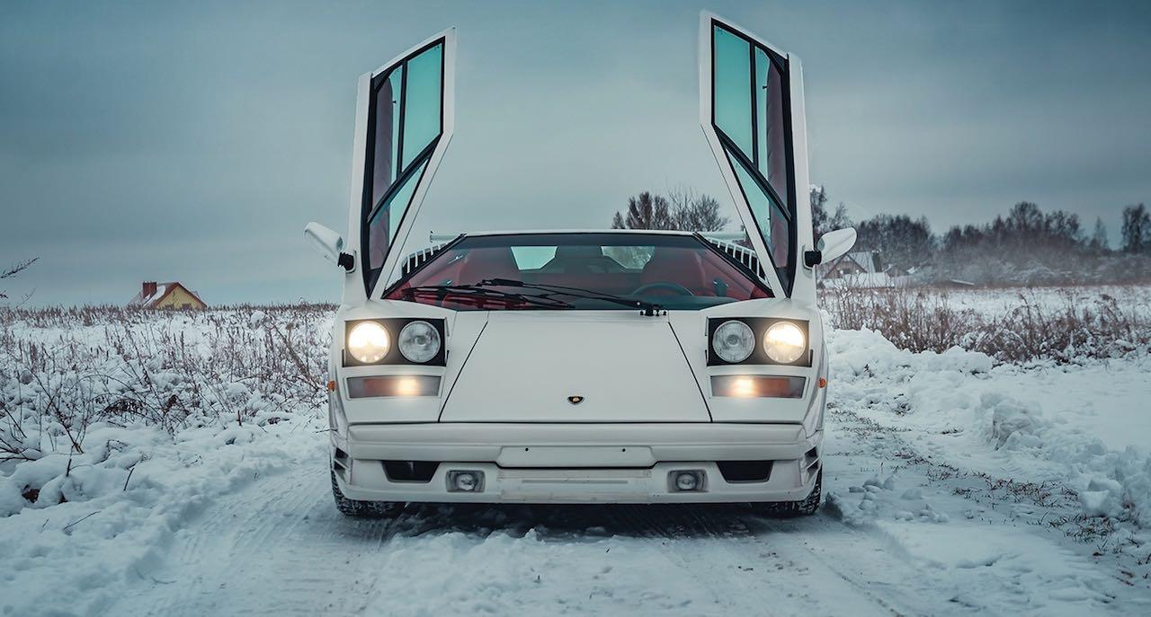 Un Lamborghini Countach 25th Anniversary - Blanche neige ! 44