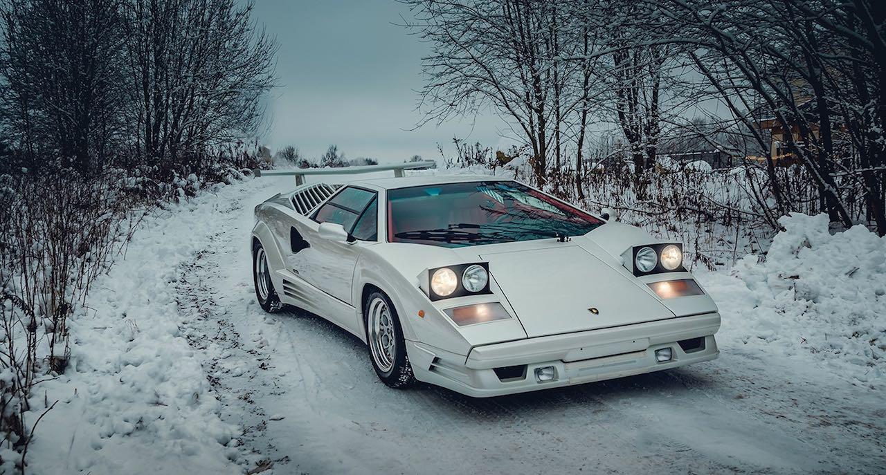 Un Lamborghini Countach 25th Anniversary - Blanche neige ! 34