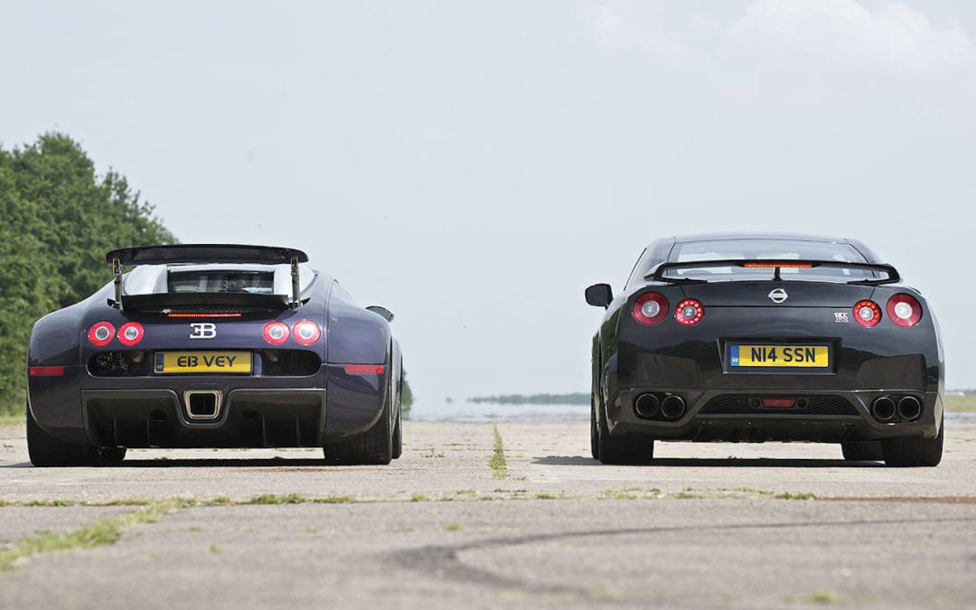 Bugatti Chiron vs Veyron SS & Nissan GTR… Suprise ?!