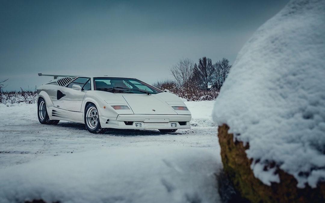 Une Lamborghini Countach 25th Anniversary – Blanche neige !