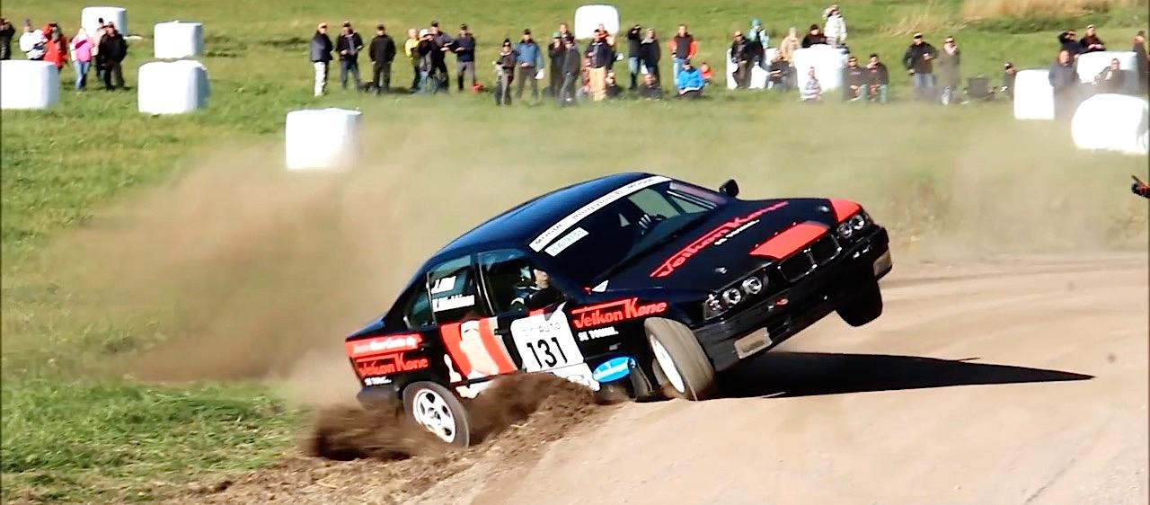 BMW E36 en rallye... A la limite ! 19