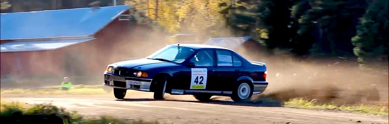 BMW E36 en rallye... A la limite ! 15