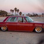 '72 Mercedes 250 W114... Raye bitume !