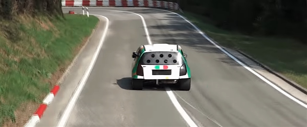 Hillclimb Monster : Citroen C2 shootée au GSX-R 1000 8