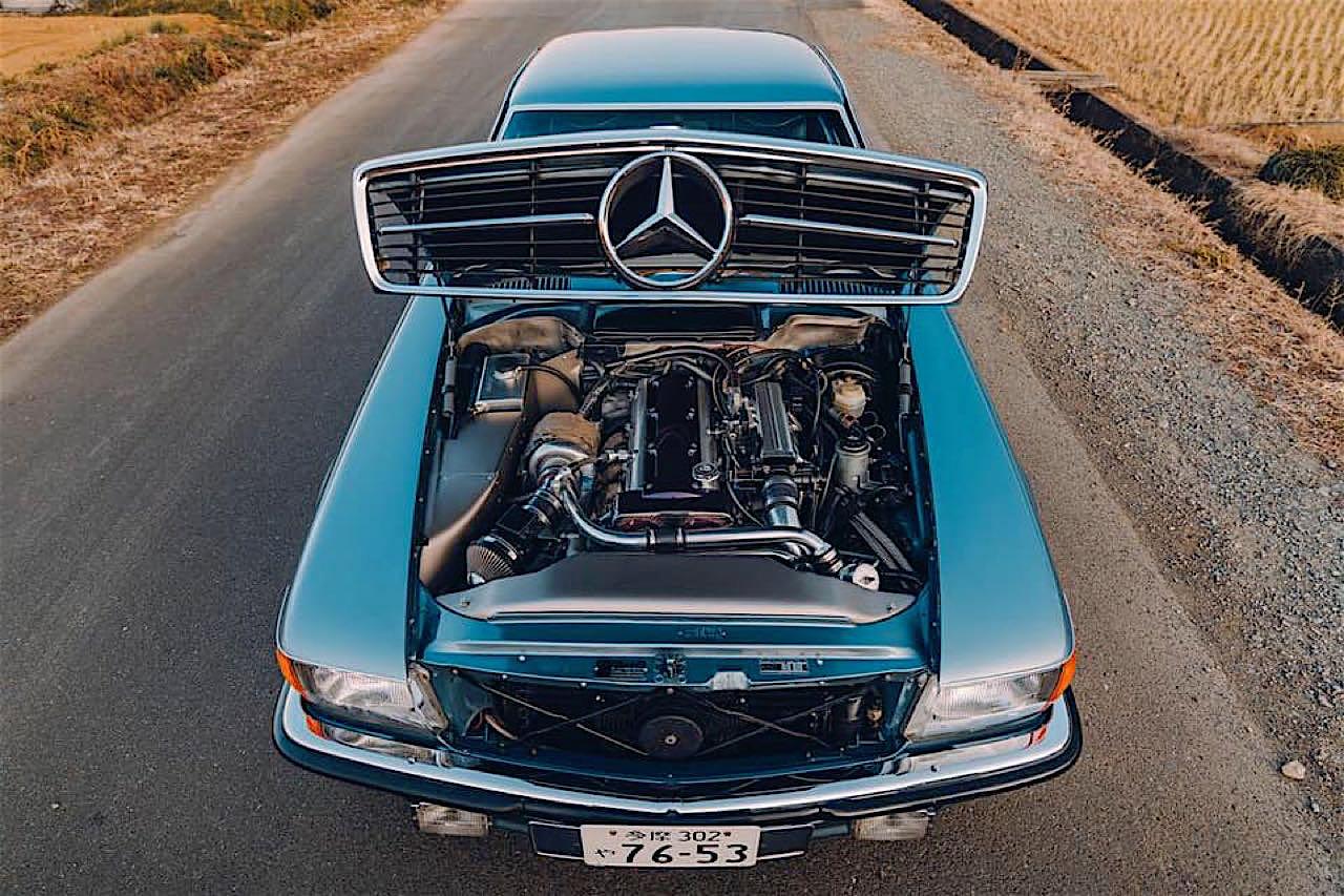 '77 Mercedes 450SLC... Une R107 en 2JZ ! 1