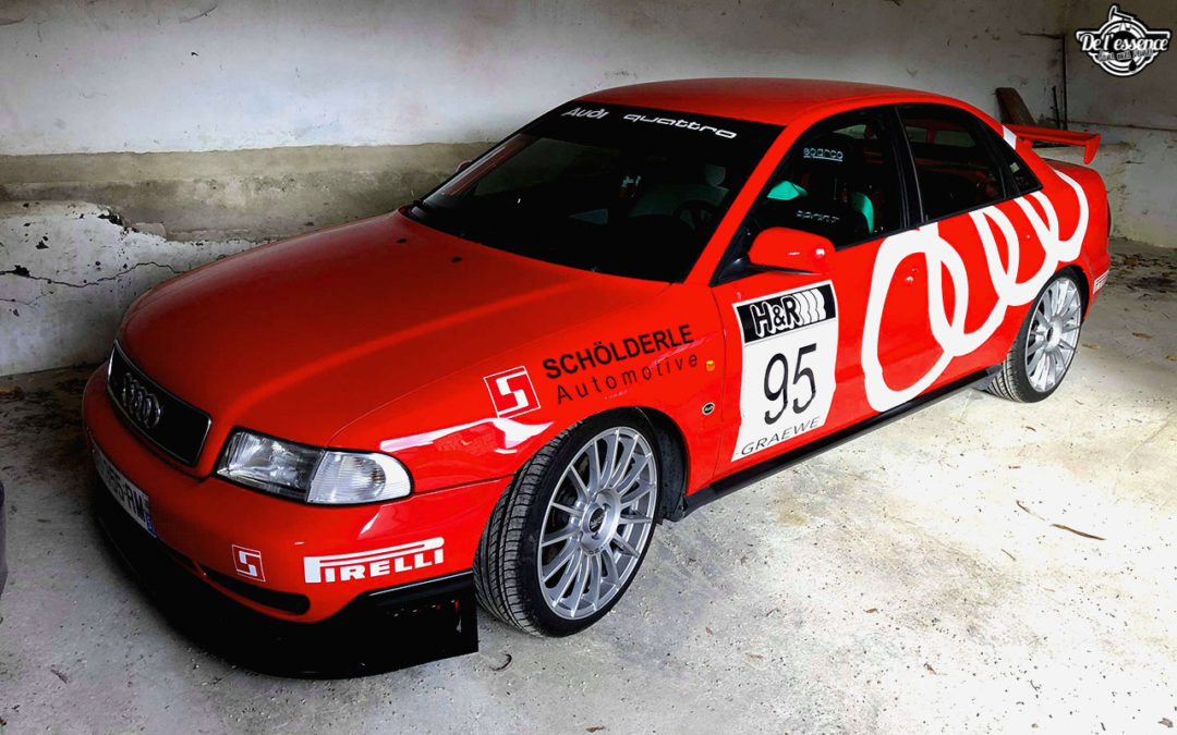 L'Audi A4 B5 2.8 Quattro de Thibault – Sur la piste !