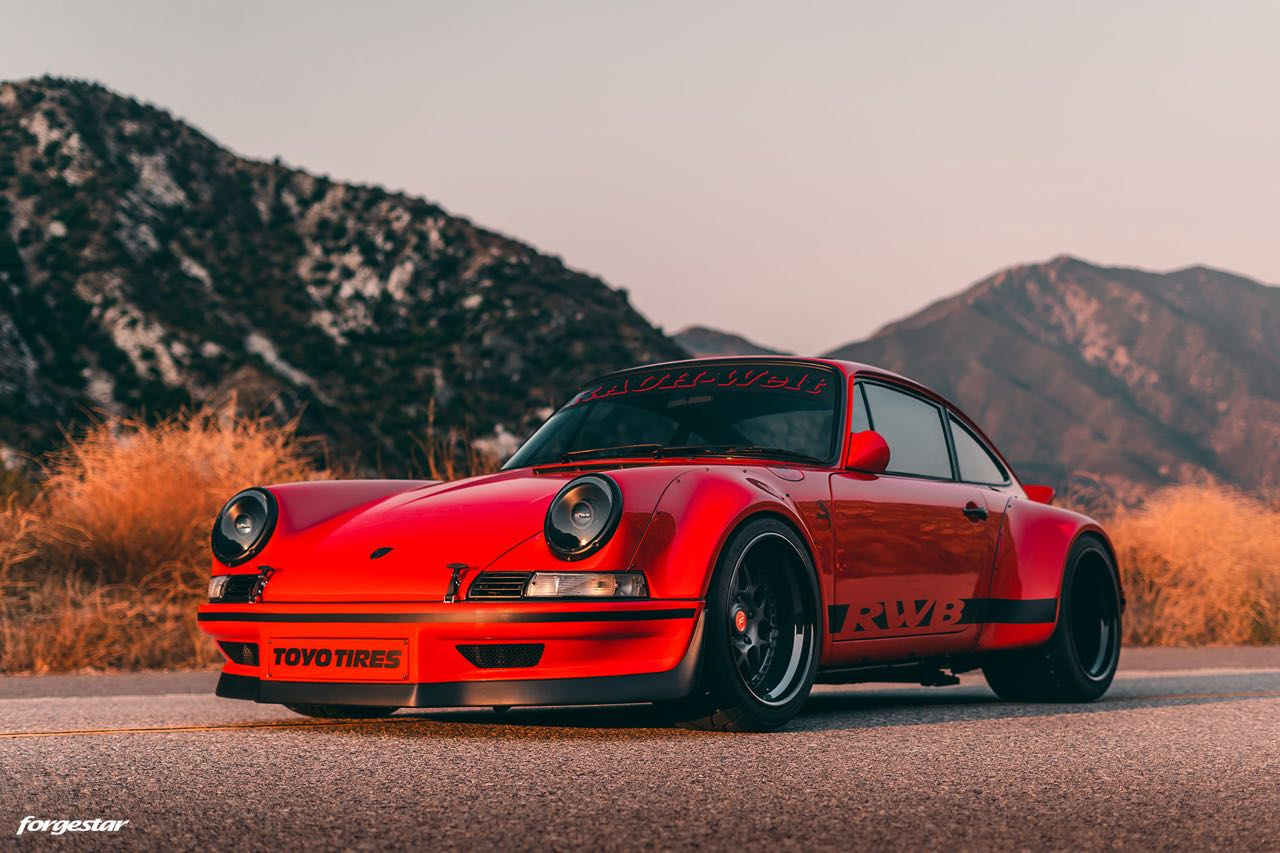 Porsche 911 RWB Backdated... Le rouge et le noir ! 16