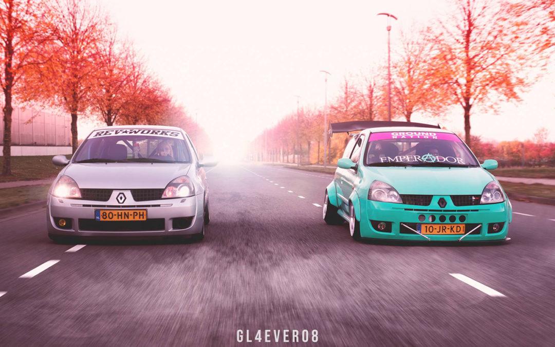 Duo de Clios II posées – Balade badass !