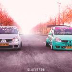 Duo de Clios II posées - Balade badass !