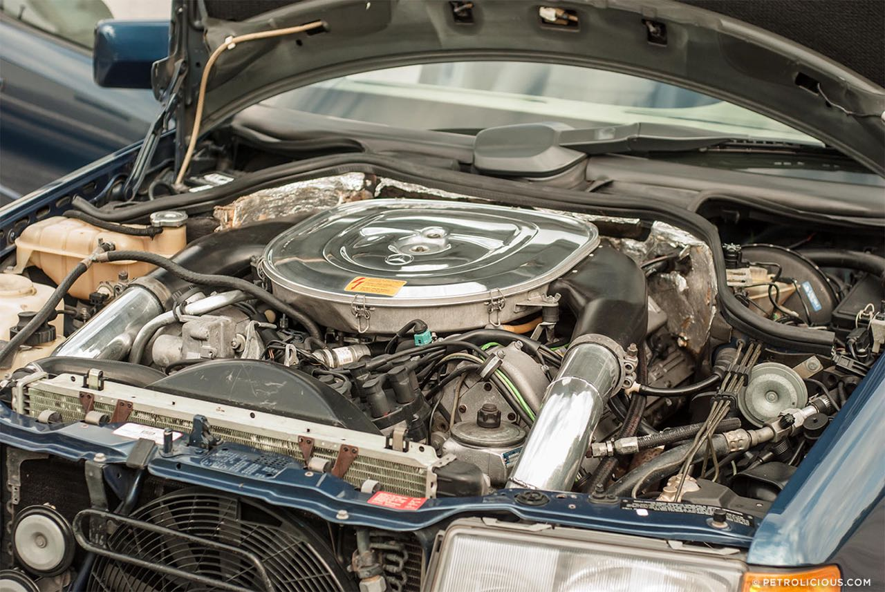 Mercedes W124 break AMG Hammer... Avec les bagages ! 5