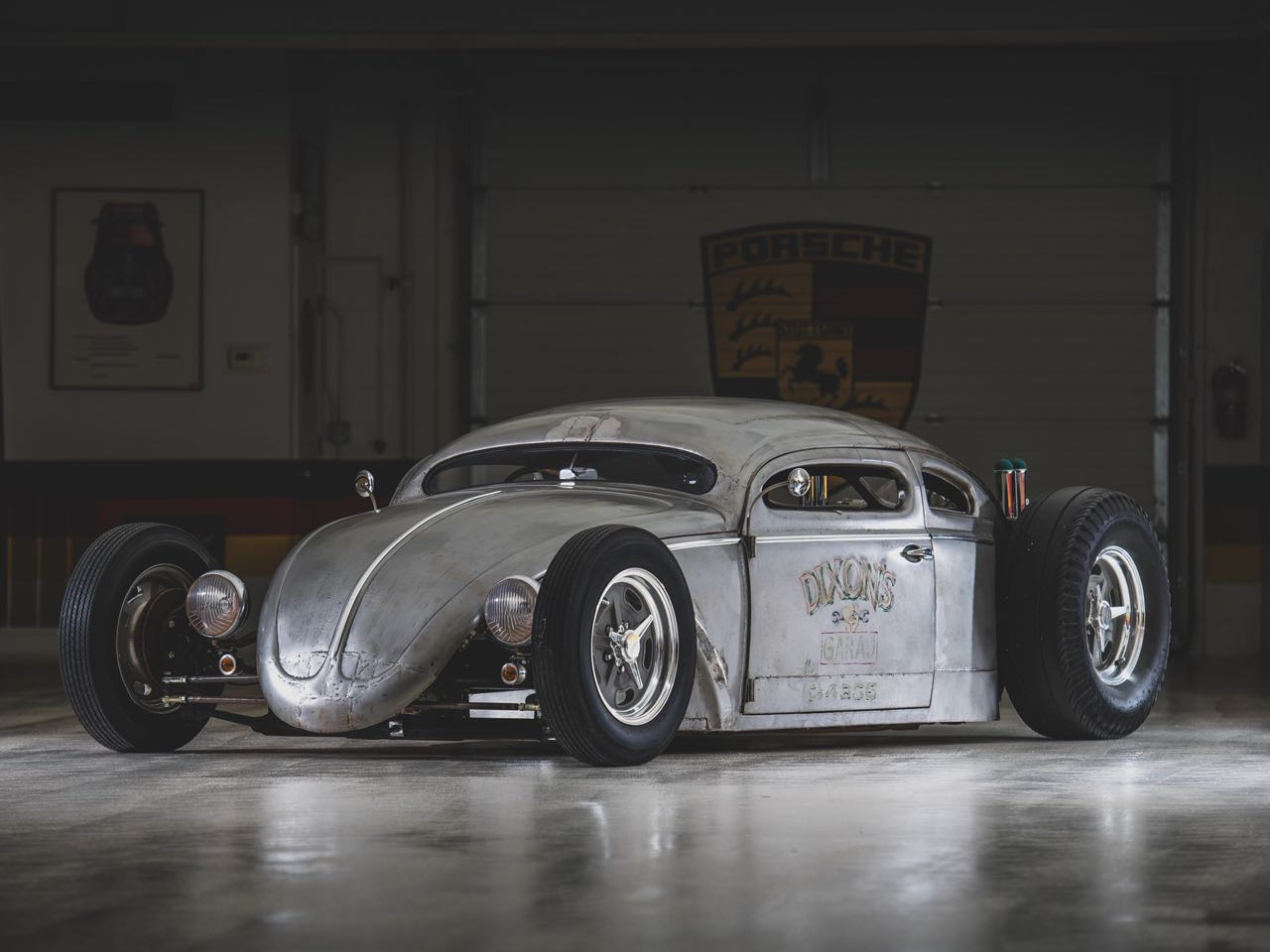 "'56 VW Beetle Outlaw ""Death"" by Franz Muhr - Heavy Metal ! 18"