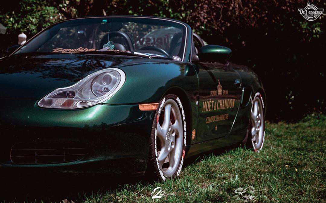 La Porsche Boxster S de Guillaume – Champagne Shower !