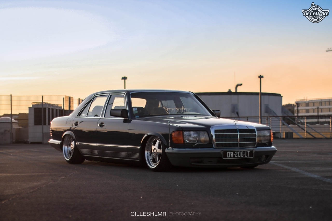Bagged Mercedes 280 SE - Eighties on Air ! 1