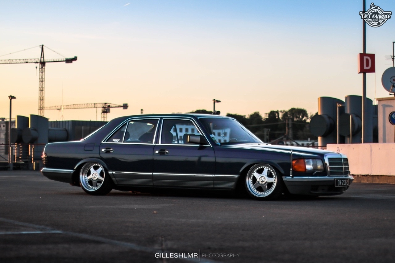 Bagged Mercedes 280 SE - Eighties on Air ! 2