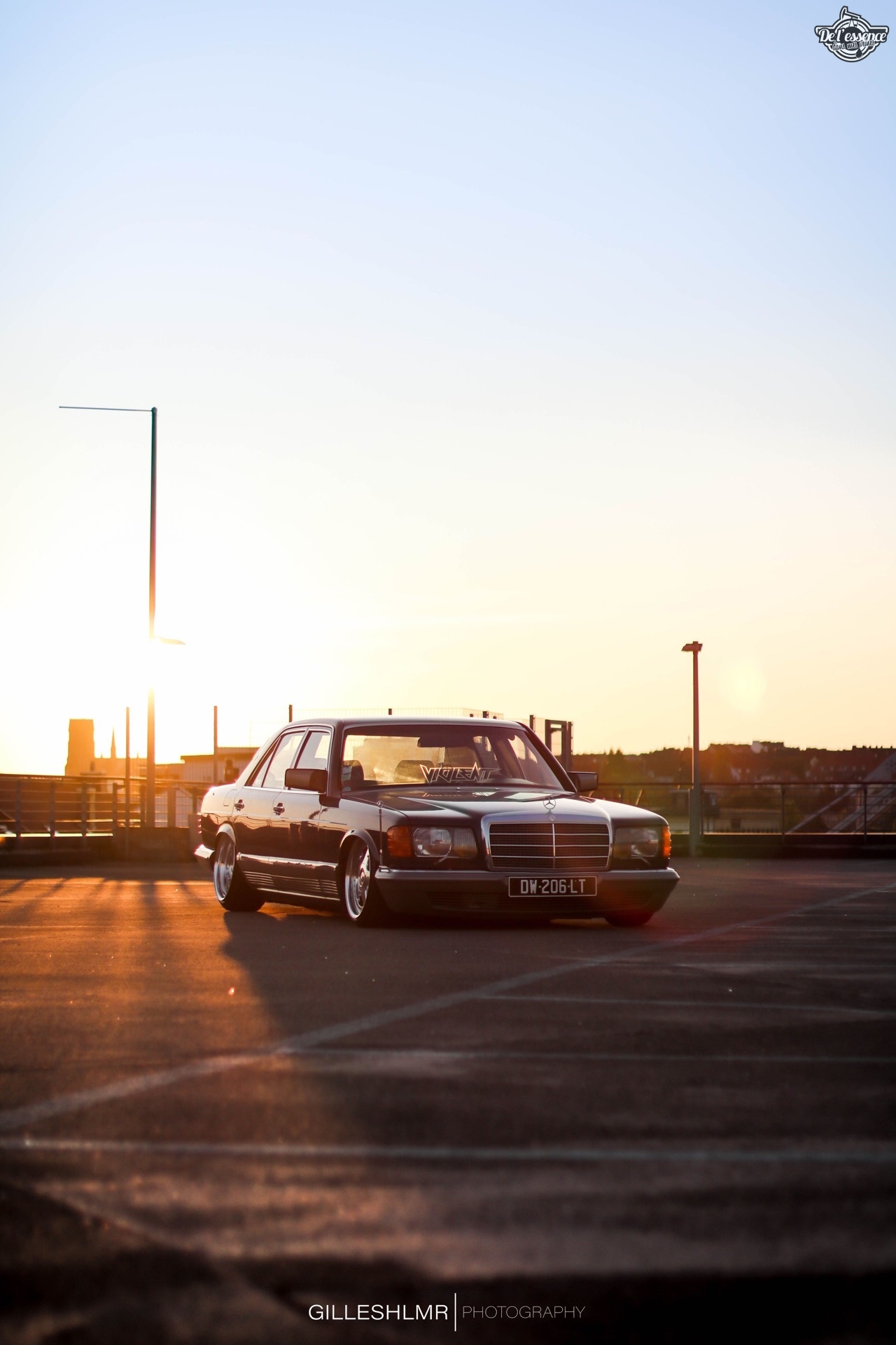 Bagged Mercedes 280 SE - Eighties on Air ! 3