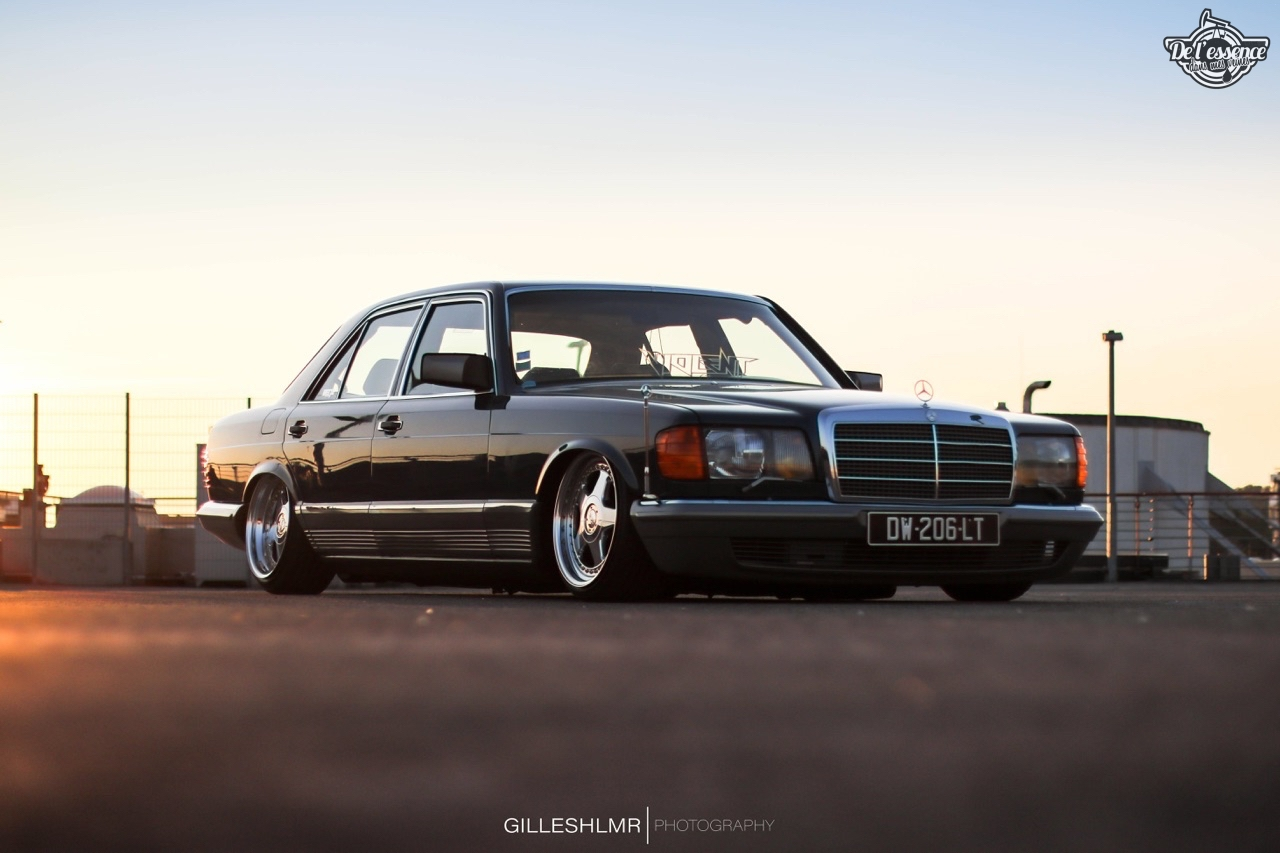 Bagged Mercedes 280 SE - Eighties on Air ! 4