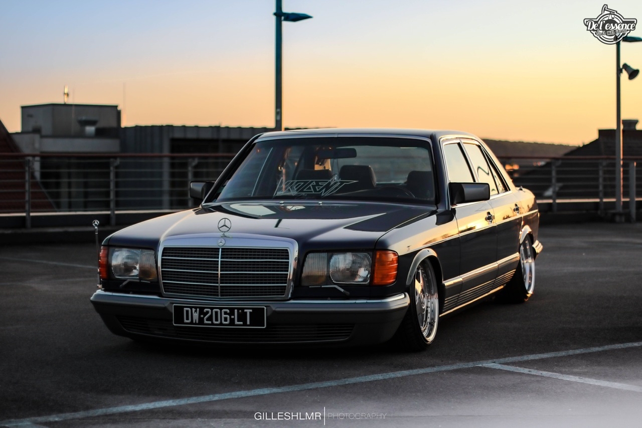 Bagged Mercedes 280 SE - Eighties on Air ! 10