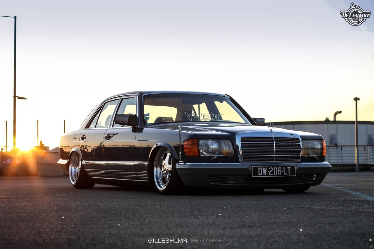 Bagged Mercedes 280 SE - Eighties on Air ! 12