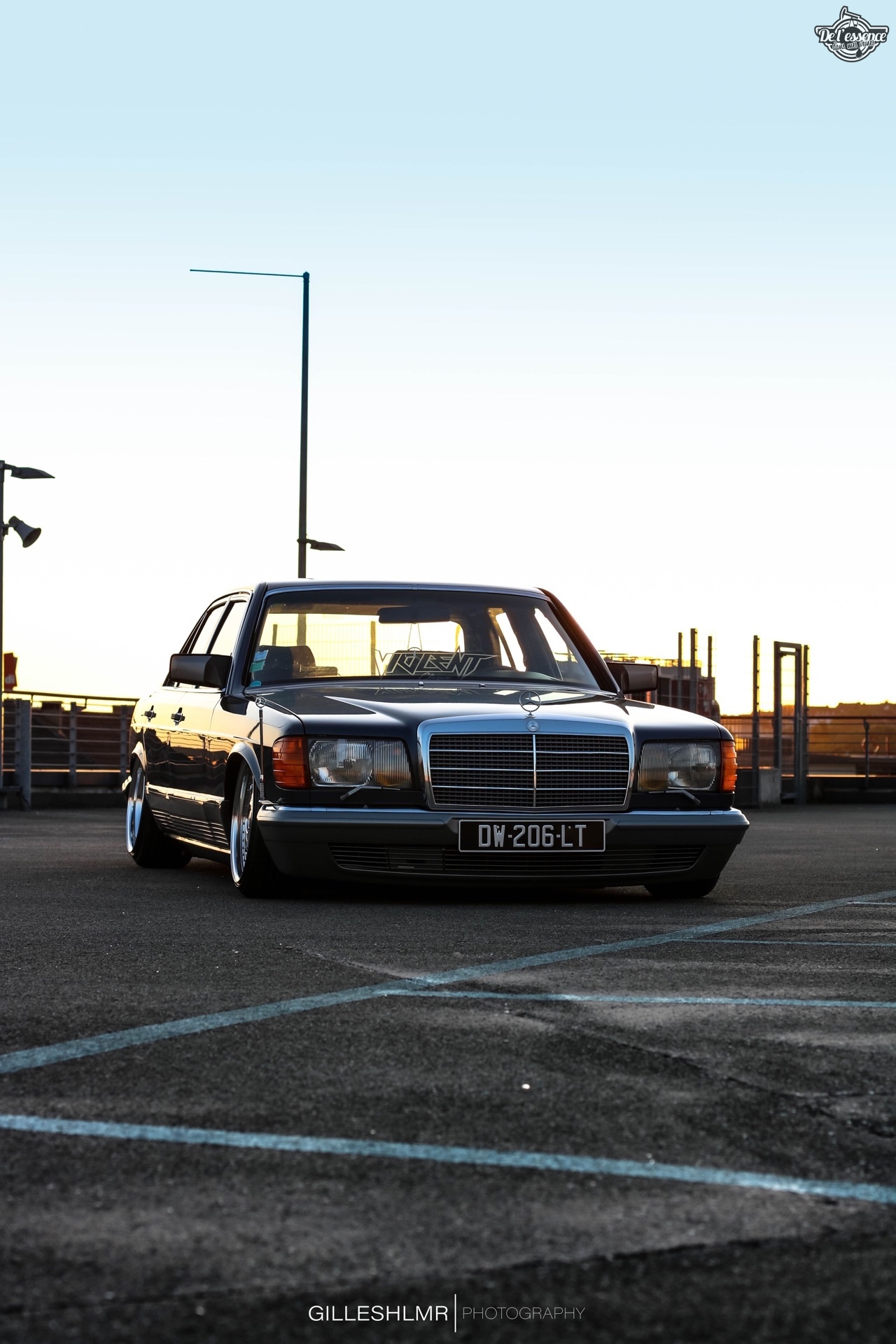 Bagged Mercedes 280 SE - Eighties on Air ! 13
