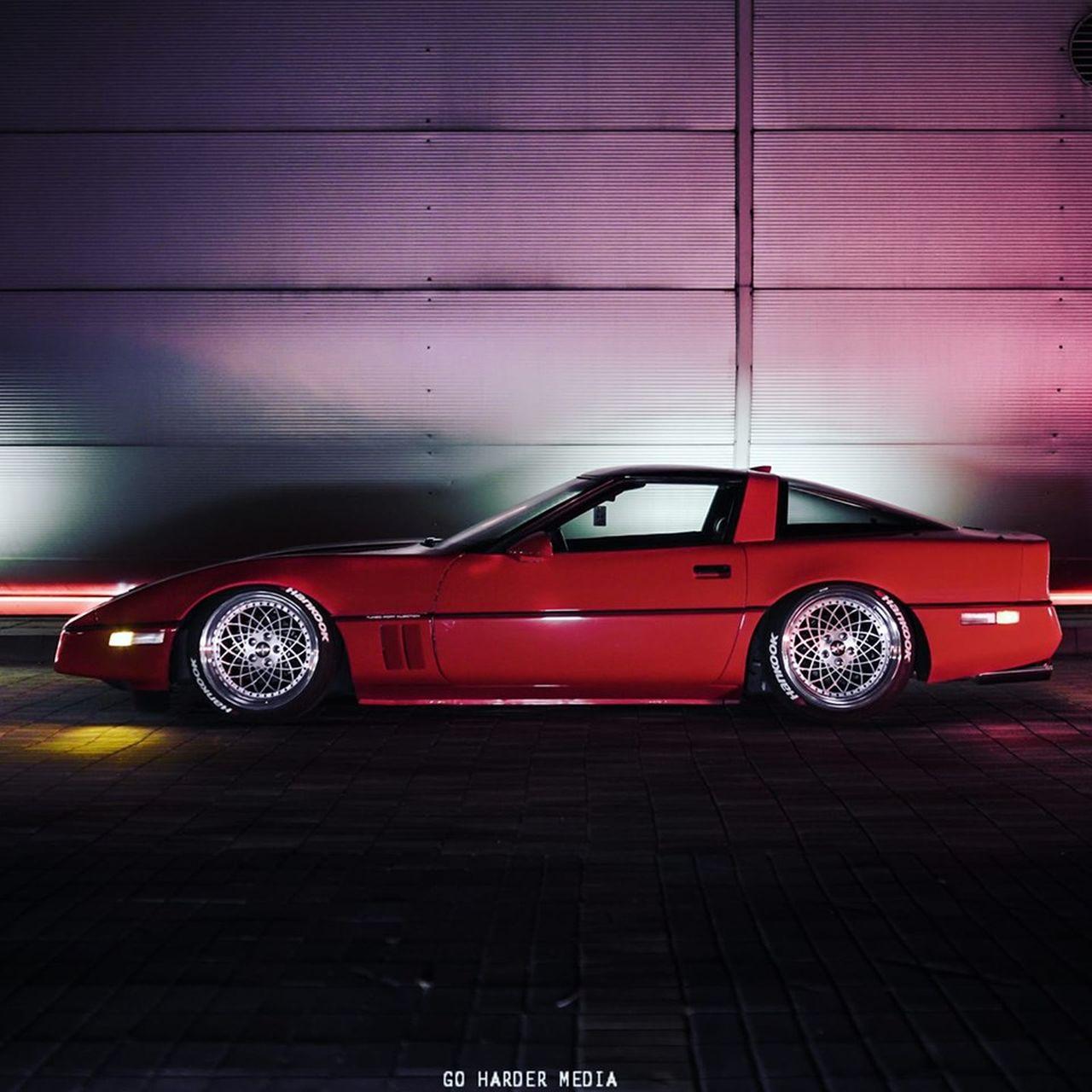 Chevrolet Corvette C4 1987 Stance - Ambiance Retrowave ! 1