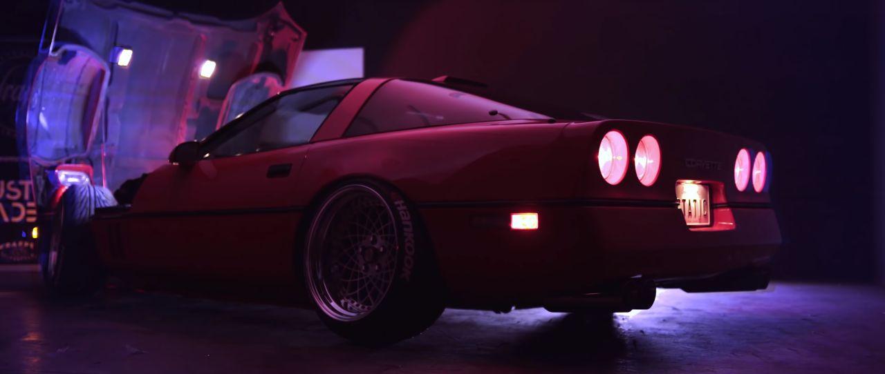 Chevrolet Corvette C4 1987 Stance - Ambiance Retrowave ! 2
