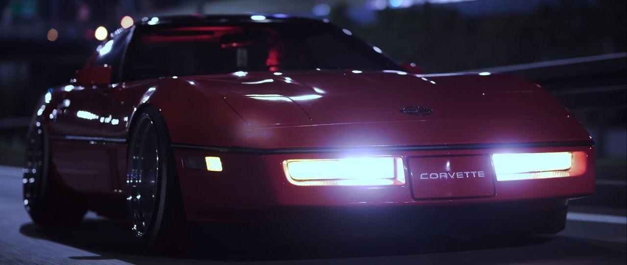Chevrolet Corvette C4 1987 Stance - Ambiance Retrowave ! 3