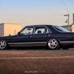 Bagged Mercedes 280 SE - Eighties on Air !