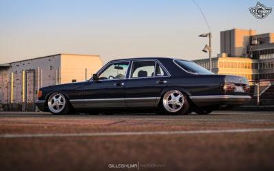 Bagged Mercedes 280 SE – Eighties on Air !
