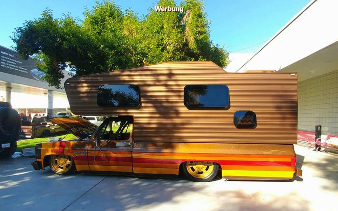 #SEMA 2019 : Brown Sugar Camper - Le camping Chevy C20 version lowww... 1