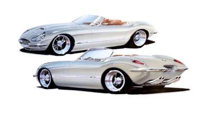 #SEMA 2019 : Jaguar Type E par Chip Foose