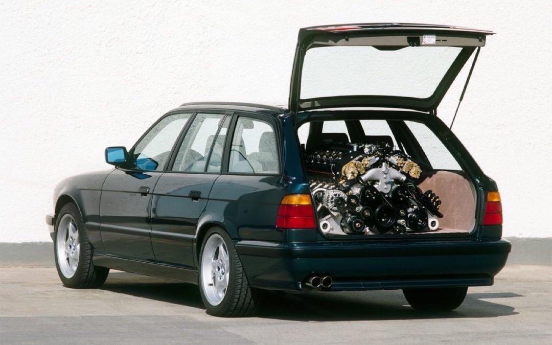 Un break BMW M5 E34 avec un V12 de McLaren F1 sous le capot…