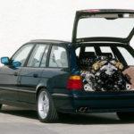Un break BMW M5 E34 avec un V12 de McLaren F1 sous le capot...