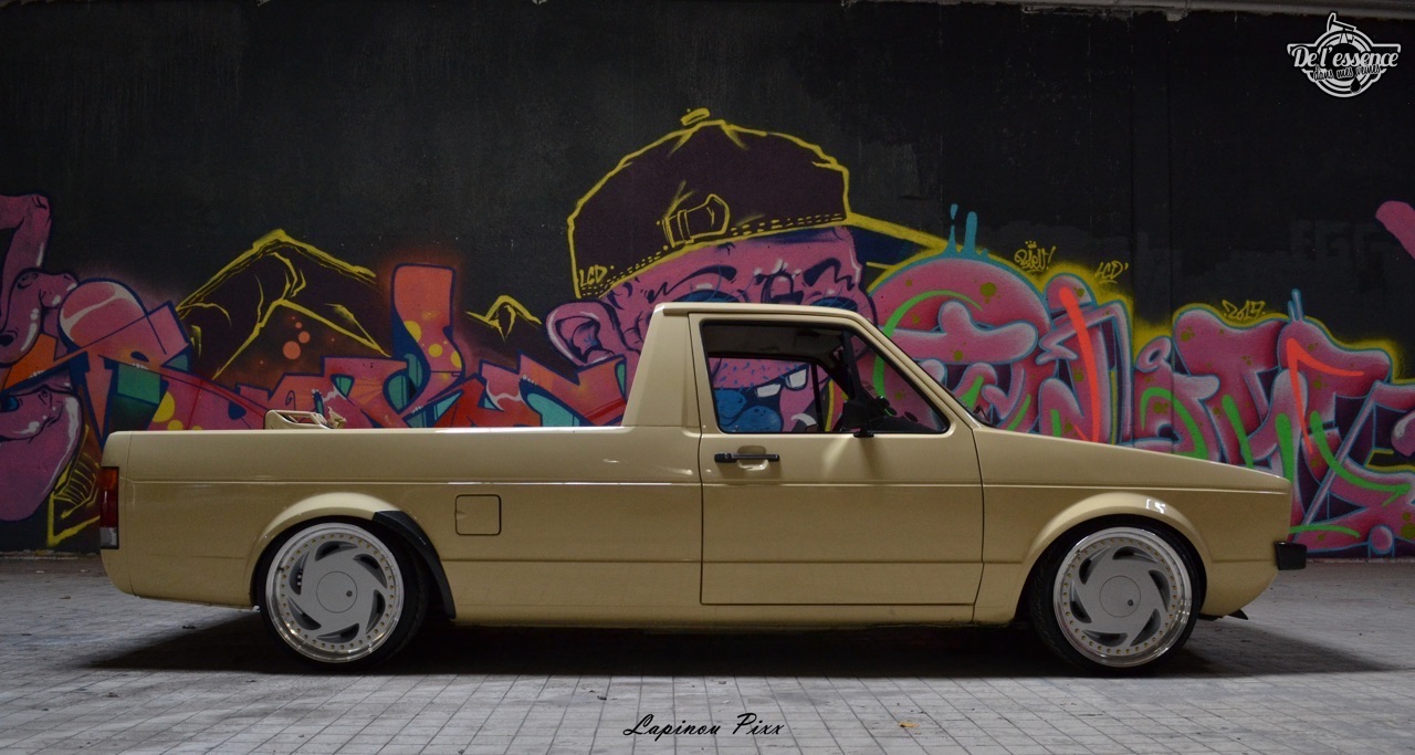 Slammed VW Caddy - Metal, bois et carbone ! 25