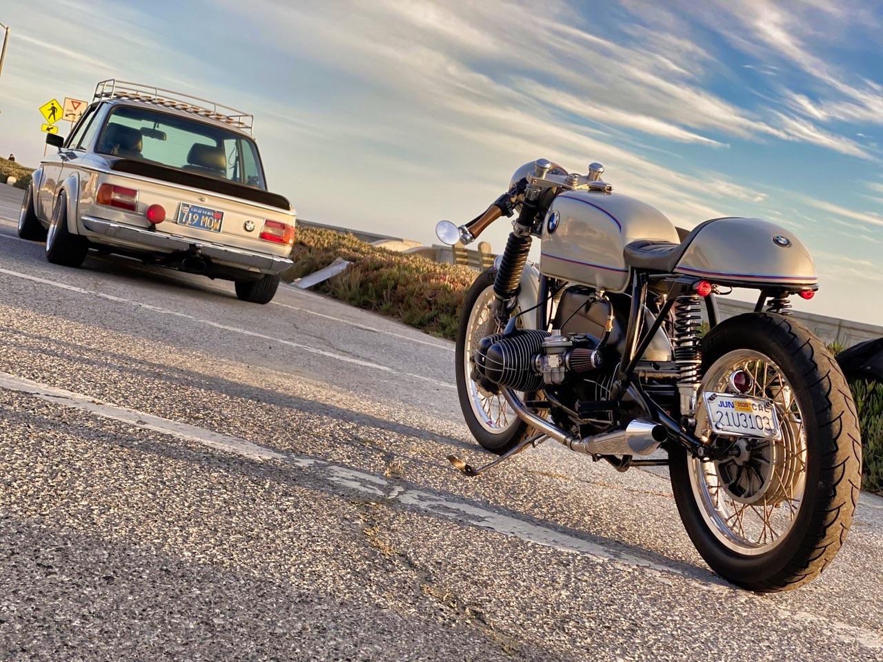 '75 BMW 2002 et R75/6 - Cafe racer sur 4 et 2 roues ! 5