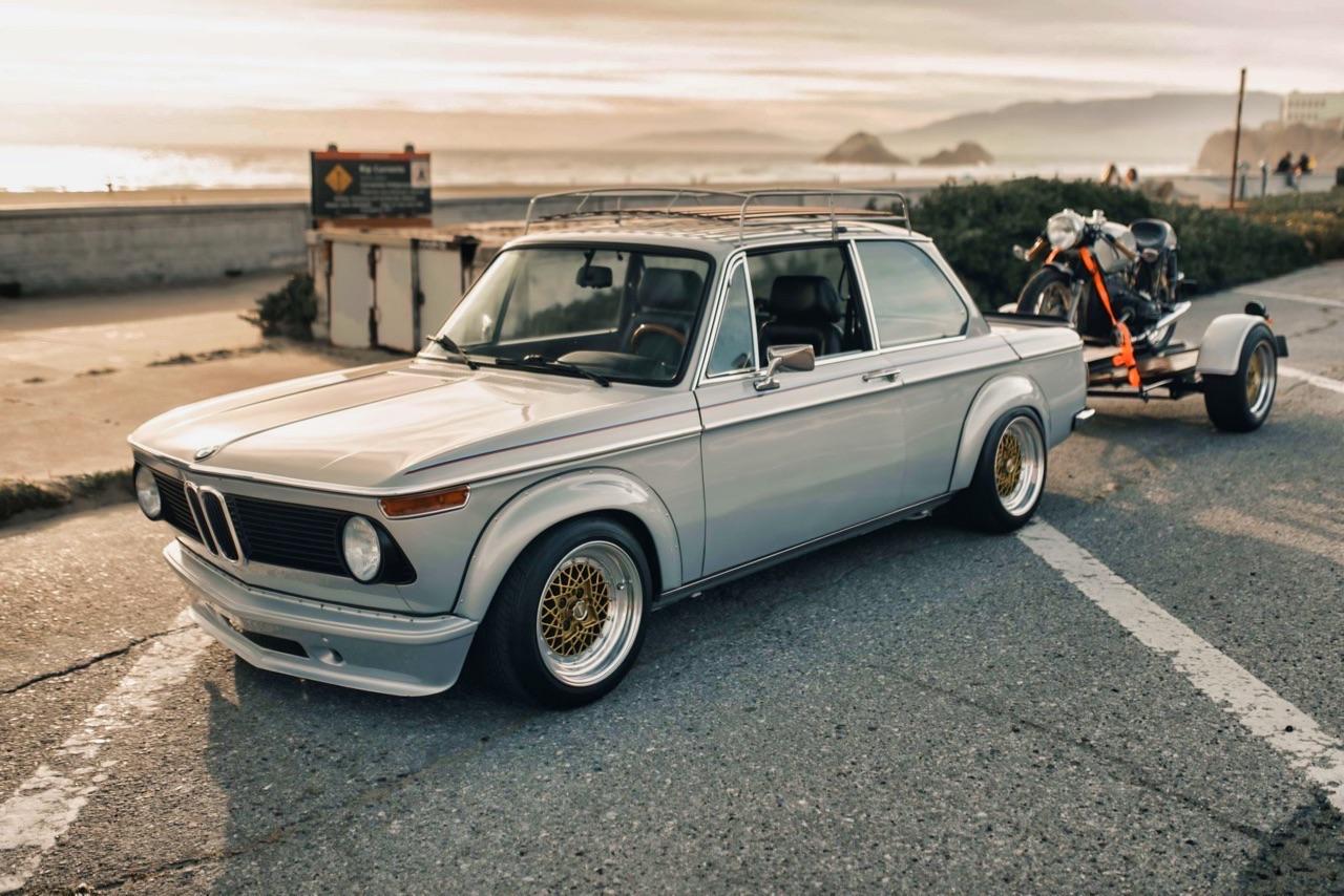 '75 BMW 2002 et R75/6 - Cafe racer sur 4 et 2 roues ! 1