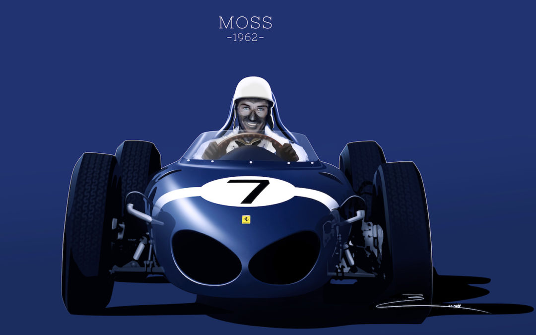 Stirling Moss et Enzo Ferrari : L'histoire de la Ferrari F1 bleue.