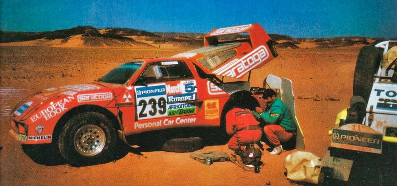 Red Typhoon ou F40 Pajero 4x4 : Une F40 au Paris Dakar ? 9