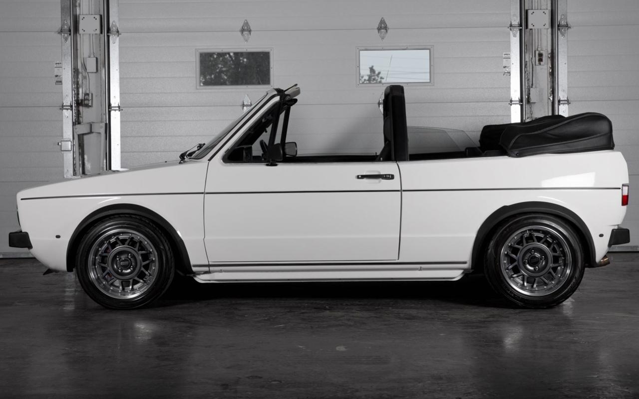 '86 VW Golf 1 Cab - Elle manque pas d'air ! 9