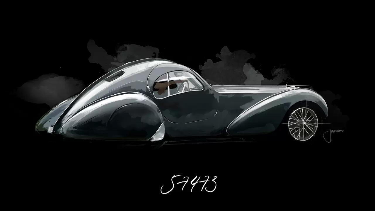 Bugatti Type 57 Aérolithe... ou appelez la Atlantic 13