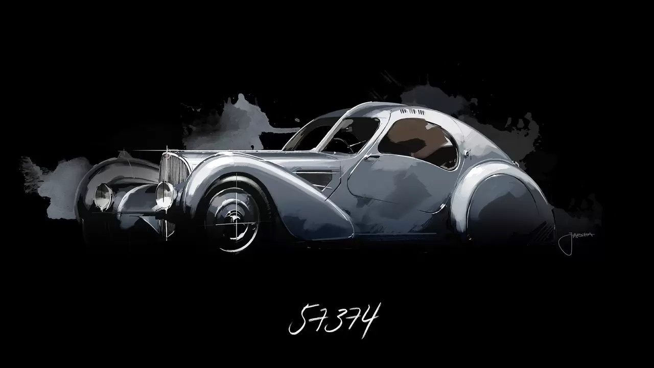 Bugatti Type 57 Aérolithe... ou appelez la Atlantic 10